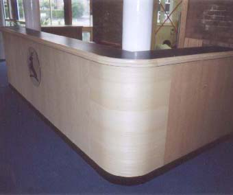 business reception desk